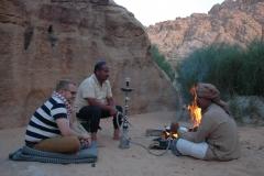 Ambiance du soir à Wadi Rum