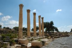 Colonnes romaines à Umm Qais